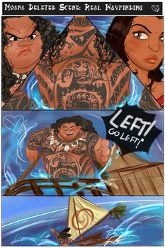Wayfinding deleted scene from Moana by Ynnep