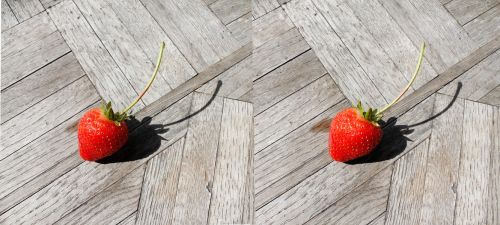 Stereograph - Strawberry with Stem by alanbecker