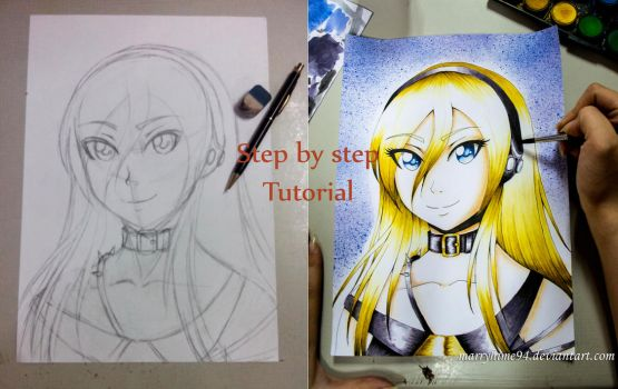 Lily Watercolors tutorial (Download) by Marryhime94