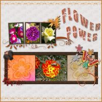 Flower Power scrapbook by noema-13