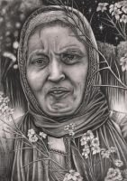 Graphite portrait of my 'MUM' by Pen-Tacular-Artist