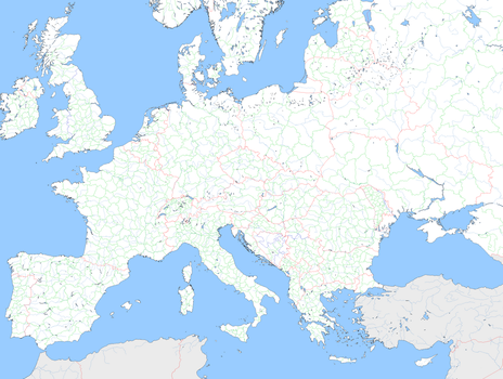 Large Blank Europe Template by mdc01957