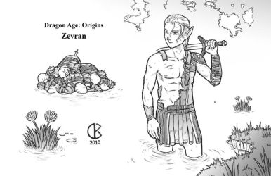 Dragon Age Origins: Zevran by shrouded-artist