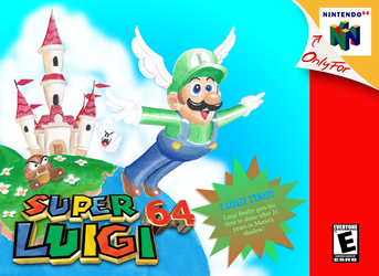 Super Luigi 64 Box Art by Gecko1993