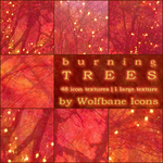 Burning Trees Texture Set by jordannamorgan