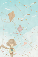 Kites, ribbons, and seagulls by Rooki-Once-More