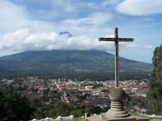 Cross on a Hill Guatemala by mfbrice