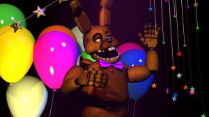 [FNAF/SFM] SpringBonnie by GreenyBon