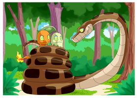 Commission .: Kaa and new friends :. by Icandoittoo