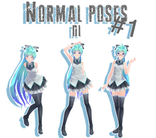MMD - Normal poses #1 DL by MMDMikuxLen