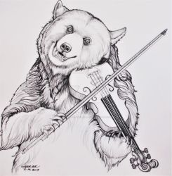 Thunder Playing the Violin  by HouseofChabrier