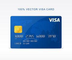 Freebie - Vector Visa Credit Card by GraphBerry
