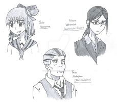 First Youngest and Oldest Characters Sketch by TheRebornAce