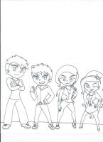 Royal Gang (uncolored) by XSreiki772