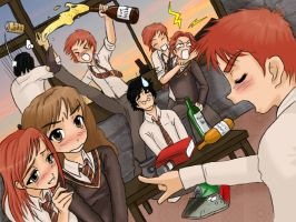 Party In Gryffindor Tower by lemonfox2002
