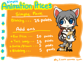 Animation Prices Sheet.Closed. by HappyFoxChelsy