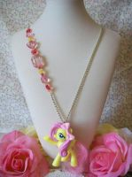 Fluttershy Necklace by lessthan3chrissy