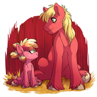 Big Pony, Little Pony by Lopoddity