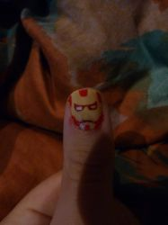 Ironman Nails by GIR015