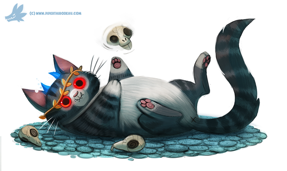 Daily Paint #1033. Hades Cat by Cryptid-Creations
