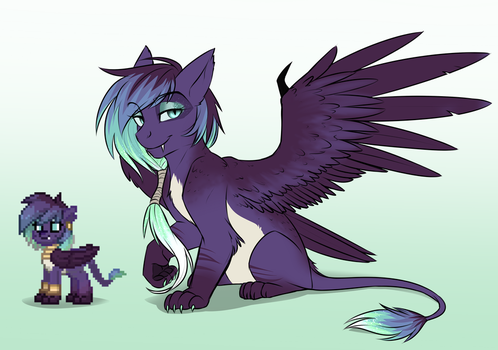 Sphinx Cat Pony... thing by AskBubbleLee
