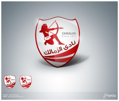 zamalek logo renewing by mezoomar