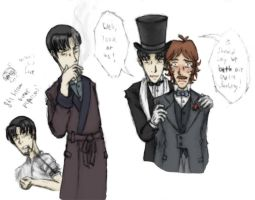Colored Holmes Sketches by mistress-samwise