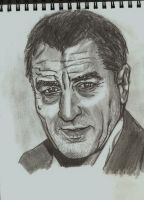 quick drawing de niro by chlobaka