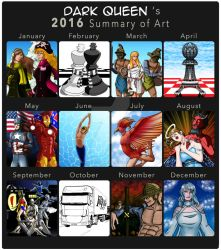 2016 Summary of Art by Carmela-DarkQueen