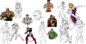 SNK Fighter sketches by Hellstinger64