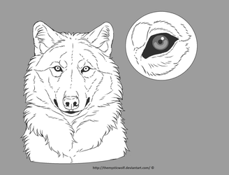 Free wolf lineart by TheMysticWolf
