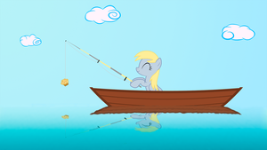 Derpy is fishing by GAlekz