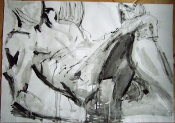 life drawing ink 4 by CalefacientTwilight