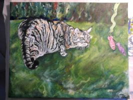 Some cat that I painted by SevereArtism