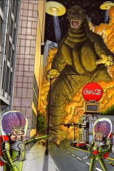 Godzilla in the ATL by ragelion