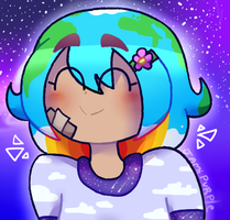 Earth chan (My version) by JamiPurpleFlower