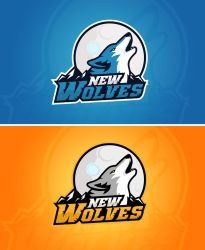 Logo for the NEW WOLVES gaming by MYeSportdesign