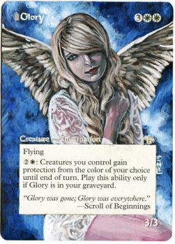 Magic Card Alteration: Glory by Ondal-the-Fool