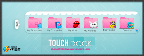 Touch Dock Skin by alenet21tutos