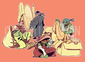 TMNT Commission: Dress Up by ceece-45