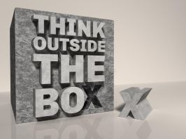 Think Outside The Box by Textuts