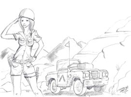 woman sexy soldier by Bartok88
