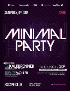 Minimal Party V2 Flyer PSD Template by outlawv15
