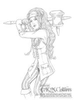 Lea the Elven Fighter by KMCgeijyutsuka