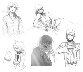 Sketch Comm Samples by yaocchi