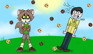 Cookies are fallin from the Sky! - Collab by ThatLovelyArtDork