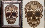 Woodburning - Day of the Dead Skull - For Sale by Stepher17