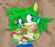 Flowers for Irma by lizathehedgehog