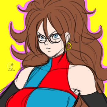 Android 21 doodle by skyraptor