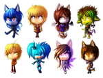 Chibi set by CoffArt